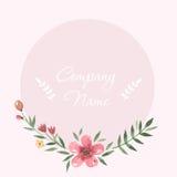 Cadre en pastel de fleurs autour de l'aquarelle tirée par la main Image libre de droits