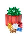 Cadre et bandes de cadeau Photographie stock libre de droits