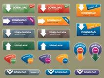 Cadre et boutons pour relier des sites Web Images stock