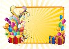 cadre et célébration de cadeau illustration de vecteur