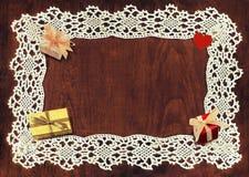 Cadre et cadeaux de crochet Image libre de droits