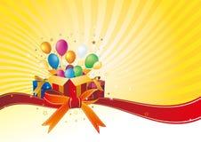 cadre et célébration de cadeau Photo stock