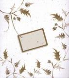 Cadre et coin floraux artistiques Photo stock