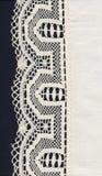 Cadre et matériau blancs de lacet Images stock