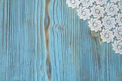 Cadre fait main de fond de dentelle originale blanche de crochet Photos stock