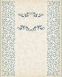 Vecteur fleuri décoratif de calligraphie de cadre de frontière de cru illustration stock