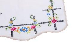 Cadre fleuri de Hankerchief Image stock