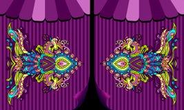 Cadre fleuri de poissons de cirque de chapiteau Image libre de droits