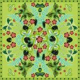 Cadre fleuri floral de dentelle de modèle de fond, de fraise et de papillon de couleur décorative Copie de tissu de châle de band Photo stock