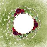 Cadre fleuri pour la salutation Photo stock