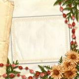 Cadre fleuri pour la salutation ou l'invitation Photographie stock libre de droits