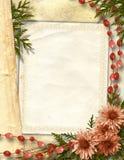Cadre fleuri pour la salutation ou l'invitation Images stock