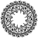 Cadre floral, éléments asiatiques, tatouage, illustration de vecteur illustration de vecteur