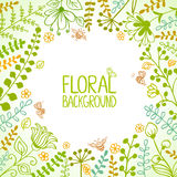 Cadre floral Photos stock