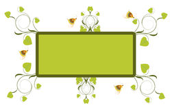 Cadre floral Images libres de droits