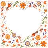 Cadre floral décoratif Photographie stock libre de droits
