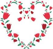 Cadre floral de coeur Image libre de droits