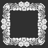 Cadre floral de dentelle photos stock
