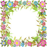 Cadre floral de fond Photos libres de droits