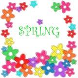 Cadre floral de ressort Images libres de droits