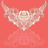 Cadre floral de vecteur élégant fleuri dans le style de Gzhel illustration de vecteur