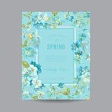 Cadre floral de vintage pour l'invitation Photographie stock