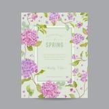 Cadre floral de vintage pour l'invitation Photo libre de droits