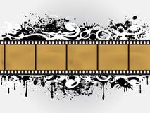 Cadre floral grunge de film Photo libre de droits