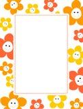 Cadre floral mignon Image stock