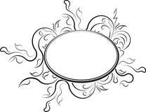 Cadre floral ovale élégant de vecteur pour votre conception ou texte Image libre de droits