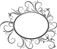 Cadre floral ovale élégant de vecteur pour votre conception ou texte Photo stock