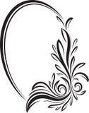 Cadre floral ovale élégant de vecteur pour votre conception ou texte Photos libres de droits