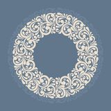 Cadre floral rond. illustration stock