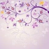 Cadre rose de Pâques de ressort Photo libre de droits