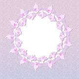 Cadre floral rose rond Photos stock