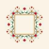 Cadre floral rose Trame décorative de vecteur Élément élégant pour le calibre de conception, endroit pour le texte Décor de dente Photos stock