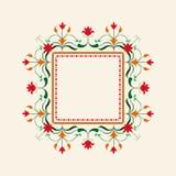 Cadre floral rose Trame décorative de vecteur Élément élégant pour le calibre de conception, endroit pour le texte Décor de dente Image libre de droits