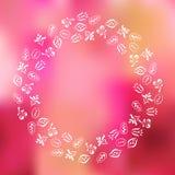Cadre floral sur le fond brouillé Image libre de droits