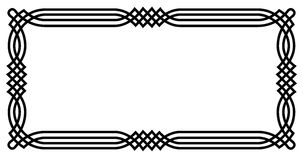Cadre géométrique celtique Images libres de droits