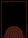 Cadre géométrique indigène australien de cercles concentriques d'art dans brun et noir oranges, vecteur Photo stock