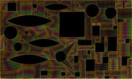 Cadre graphique abstrait géométrique, d'isolement Illustration de Vecteur