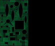 Cadre graphique abstrait géométrique, d'isolement Illustration Stock