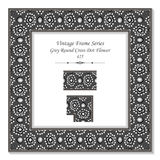 Cadre 425 Grey Round Cross Dot Flower du vintage 3D Photos libres de droits