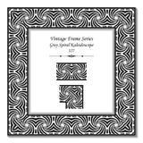 Cadre 127 Grey Spiral Kaleidoscope du vintage 3D Images libres de droits