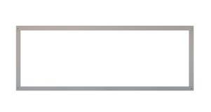 Cadre gris vide de panneau d'affichage en métal d'isolement Images stock