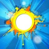 Cadre grunge coloré abstrait avec des rayons Photographie stock libre de droits