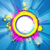 Cadre grunge coloré abstrait avec des rayons Photos stock