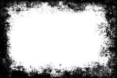 Cadre grunge noir de frontière de texture au-dessus de blanc Image libre de droits
