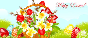 Cadre heureux de Pâques Image libre de droits