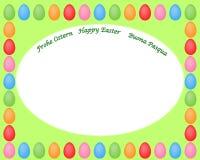 Cadre heureux de Pâques avec les oeufs colorés illustration de vecteur